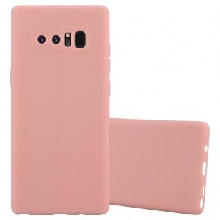 Cadorabo Hülle für Samsung Galaxy NOTE 8 in CANDY ROSA - Handyhülle aus flexiblem TPU Silikon - Silikonhülle Schutzhülle Ultra Slim Soft Back Cover Case Bumper