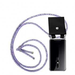 Cadorabo Handy Kette für OnePlus 6 in UNICORN Silikon Necklace Umhänge Hülle mit Silber Ringen, Kordel Band Schnur und abnehmbarem Etui Schutzhülle