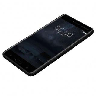 Cadorabo Hülle für Nokia 6 2017 in METALL SCHWARZ - Hardcase Handyhülle aus Plastik gegen Kratzer und Stöße - Schutzhülle Bumper Ultra Slim Back Case Hard Cover - Vorschau 3