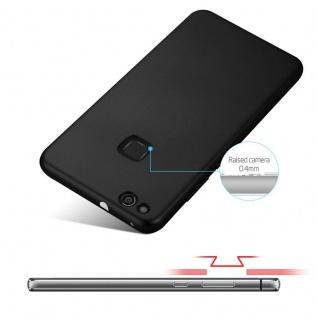 Cadorabo Hülle für Huawei P10 LITE in METALL SCHWARZ - Hardcase Handyhülle aus Plastik gegen Kratzer und Stöße - Schutzhülle Bumper Ultra Slim Back Case Hard Cover - Vorschau 4