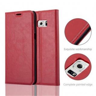 Cadorabo Hülle für Samsung Galaxy S6 EDGE PLUS in APFEL ROT - Handyhülle mit Magnetverschluss, Standfunktion und Kartenfach - Case Cover Schutzhülle Etui Tasche Book Klapp Style - Vorschau 5