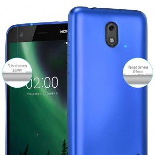 Cadorabo Hülle für Nokia 2 2017 in METALLIC BLAU - Handyhülle aus flexiblem TPU Silikon - Silikonhülle Schutzhülle Ultra Slim Soft Back Cover Case Bumper - Vorschau 4