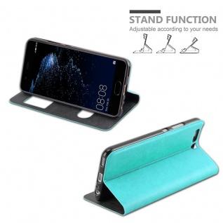 Cadorabo Hülle für Huawei P10 PLUS in MINT TÜRKIS ? Handyhülle mit Magnetverschluss, Standfunktion und 2 Sichtfenstern ? Case Cover Schutzhülle Etui Tasche Book Klapp Style - Vorschau 5