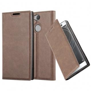 Cadorabo Hülle für Sony Xperia XA2 in KAFFEE BRAUN - Handyhülle mit Magnetverschluss, Standfunktion und Kartenfach - Case Cover Schutzhülle Etui Tasche Book Klapp Style