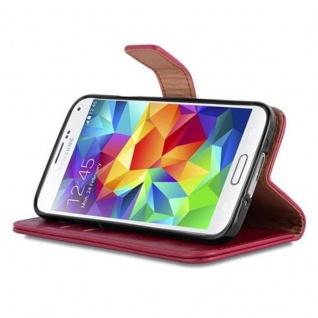 Cadorabo Hülle für Samsung Galaxy S5 / S5 NEO in WEIN ROT ? Handyhülle mit Magnetverschluss, Standfunktion und Kartenfach ? Case Cover Schutzhülle Etui Tasche Book Klapp Style - Vorschau 5