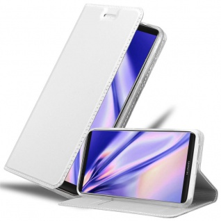 Cadorabo Hülle für Huawei MATE 10 PRO in CLASSY SILBER - Handyhülle mit Magnetverschluss, Standfunktion und Kartenfach - Case Cover Schutzhülle Etui Tasche Book Klapp Style
