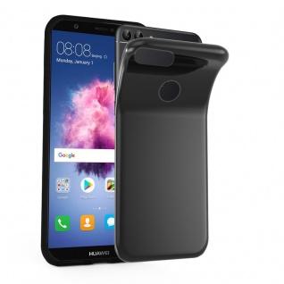 Cadorabo Hülle für Huawei P SMART 2018 / Enjoy 7S in SCHWARZ - Handyhülle aus flexiblem TPU Silikon - Silikonhülle Schutzhülle Ultra Slim Soft Back Cover Case Bumper
