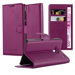 Cadorabo Hülle für HTC ONE M7 (1. Gen.) in MANGAN VIOLETT - Handyhülle mit Magnetverschluss, Standfunktion und Kartenfach - Case Cover Schutzhülle Etui Tasche Book Klapp Style
