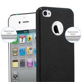 Cadorabo Hülle für Apple iPhone 4 / iPhone 4S in FROSTY SCHWARZ - Hardcase Handyhülle aus Plastik gegen Kratzer und Stöße - Schutzhülle Bumper Ultra Slim Back Case Hard Cover - Vorschau 5