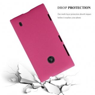 Cadorabo Hülle für Nokia Lumia 520 in FROSTY PINK - Hardcase Handyhülle aus Plastik gegen Kratzer und Stöße - Schutzhülle Bumper Ultra Slim Back Case Hard Cover - Vorschau 3