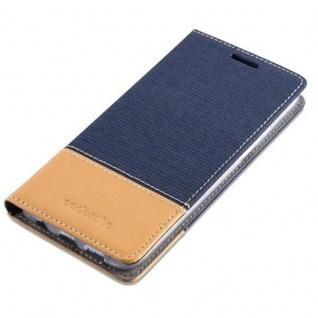 Cadorabo Hülle für Samsung Galaxy S7 EDGE in DUNKEL BLAU BRAUN - Handyhülle mit Magnetverschluss, Standfunktion und Kartenfach - Case Cover Schutzhülle Etui Tasche Book Klapp Style - Vorschau 4