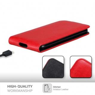 Cadorabo Hülle für Blackberry Z10 in APFEL ROT Handyhülle im Flip Design mit Magnetverschluss Case Cover Schutzhülle Etui Tasche Book Klapp Style - Vorschau 2