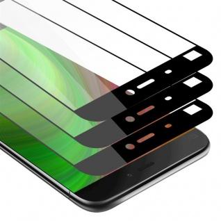 Cadorabo 3x Vollbild Panzer Folie für Xiaomi Mi 5 - Schutzfolie in TRANSPARENT mit SCHWARZ - 3er Pack Gehärtetes (Tempered) Display-Schutzglas in 9H Härte mit 3D Touch