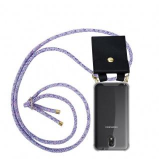 Cadorabo Handy Kette für Samsung Galaxy NOTE 3 in UNICORN - Silikon Necklace Umhänge Hülle mit Gold Ringen, Kordel Band Schnur und abnehmbarem Etui ? Schutzhülle
