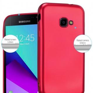 Cadorabo Hülle für Samsung Galaxy Xcover 4 in METALLIC ROT - Handyhülle aus flexiblem TPU Silikon - Silikonhülle Schutzhülle Ultra Slim Soft Back Cover Case Bumper - Vorschau 4