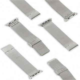 Cadorabo Edelstahl Armband für 42 mm Apple Watch Series 1 & Apple Watch Series 2 & Apple Watch Series 3 - Wrist Band in SILBER - Uhr Zubehör Smartwatch iWatch