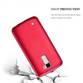 Cadorabo Hülle für LG K10 2016 in METALLIC ROT - Handyhülle aus flexiblem TPU Silikon - Silikonhülle Schutzhülle Ultra Slim Soft Back Cover Case Bumper - Vorschau 3