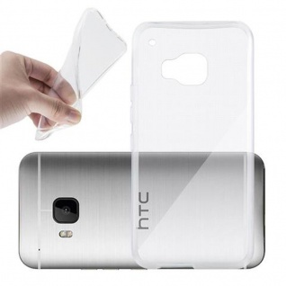 Cadorabo Hülle für HTC ONE M9 in VOLL TRANSPARENT - Handyhülle aus flexiblem TPU Silikon - Silikonhülle Schutzhülle Ultra Slim Soft Back Cover Case Bumper