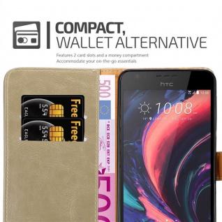 Cadorabo Hülle für HTC Desire 10 Lifestyle / Desire 825 in CAPPUCCINO BRAUN - Handyhülle mit Magnetverschluss, Standfunktion und Kartenfach - Case Cover Schutzhülle Etui Tasche Book Klapp Style - Vorschau 5