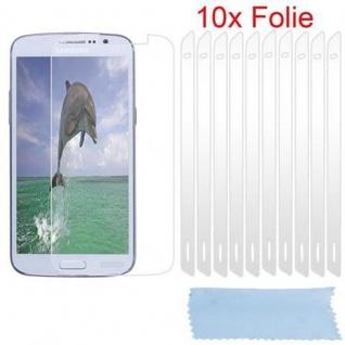 Cadorabo Displayschutzfolien für Samsung Galaxy GRAND 2 - Schutzfolien in HIGH CLEAR ? 10 Stück hochtransparenter Schutzfolien gegen Staub, Schmutz und Kratzer