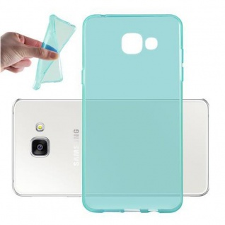 Cadorabo Hülle für Samsung Galaxy A3 2016 in TRANSPARENT BLAU - Handyhülle aus flexiblem TPU Silikon - Silikonhülle Schutzhülle Ultra Slim Soft Back Cover Case Bumper