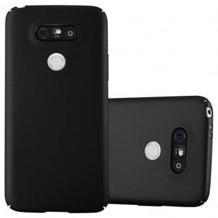 Cadorabo Hülle für LG G5 in METALL SCHWARZ - Hardcase Handyhülle aus Plastik gegen Kratzer und Stöße - Schutzhülle Bumper Ultra Slim Back Case Hard Cover