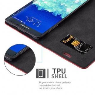 Cadorabo Hülle für Samsung Galaxy NOTE EDGE in APFEL ROT - Handyhülle mit Magnetverschluss, Standfunktion und Kartenfach - Case Cover Schutzhülle Etui Tasche Book Klapp Style - Vorschau 2