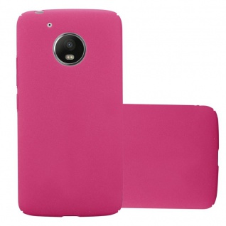Cadorabo Hülle für Motorola MOTO G5 in FROSTY PINK Hardcase Handyhülle aus Plastik gegen Kratzer und Stöße Schutzhülle Bumper Ultra Slim Back Case Hard Cover