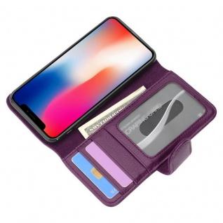 Cadorabo Hülle für Apple iPhone X / XS in BORDEAUX LILA ? Handyhülle mit Magnetverschluss und 3 Kartenfächern ? Case Cover Schutzhülle Etui Tasche Book Klapp Style - Vorschau 2