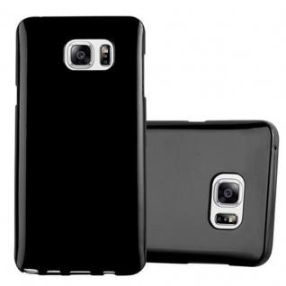 Cadorabo Hülle für Samsung Galaxy NOTE 5 in JELLY SCHWARZ ? Handyhülle aus flexiblem TPU Silikon ? Silikonhülle Schutzhülle Ultra Slim Soft Back Cover Case Bumper