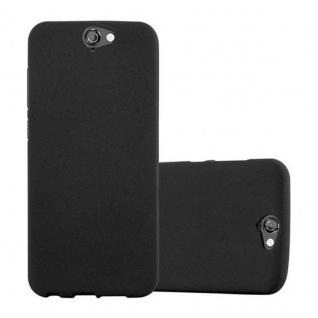 Cadorabo Hülle für HTC ONE A9 in FROST SCHWARZ - Handyhülle aus flexiblem TPU Silikon - Silikonhülle Schutzhülle Ultra Slim Soft Back Cover Case Bumper