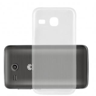 Cadorabo Hülle für Huawei ASCEND Y511 - Hülle in VOLL TRANSPARENT ? Handyhülle aus TPU Silikon im Ultra Slim 'AIR' Design - Ultra Slim Soft Backcover Case Bumper
