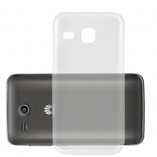 Cadorabo Hülle für Huawei ASCEND Y511 in VOLL TRANSPARENT - Handyhülle aus flexiblem TPU Silikon - Silikonhülle Schutzhülle Ultra Slim Soft Back Cover Case Bumper