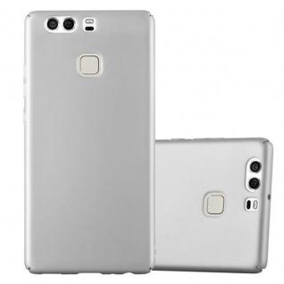 Cadorabo Hülle für Huawei P9 in METALL SILBER - Hardcase Handyhülle aus Plastik gegen Kratzer und Stöße - Schutzhülle Bumper Ultra Slim Back Case Hard Cover