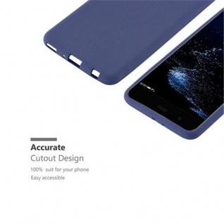 Cadorabo Hülle für Huawei P10 PLUS in FROST DUNKEL BLAU - Handyhülle aus flexiblem TPU Silikon - Silikonhülle Schutzhülle Ultra Slim Soft Back Cover Case Bumper - Vorschau 2