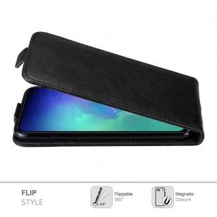 Cadorabo Hülle für Samsung Galaxy S10e in NACHT SCHWARZ - Handyhülle im Flip Design mit Magnetverschluss - Case Cover Schutzhülle Etui Tasche Book Klapp Style - Vorschau 2