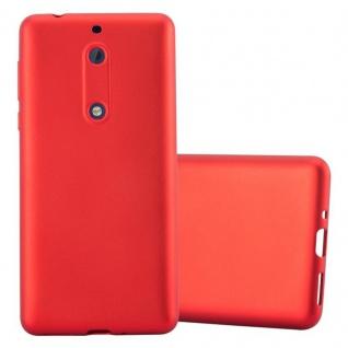 Cadorabo Hülle für Nokia 5 2017 in METALLIC ROT - Handyhülle aus flexiblem TPU Silikon - Silikonhülle Schutzhülle Ultra Slim Soft Back Cover Case Bumper