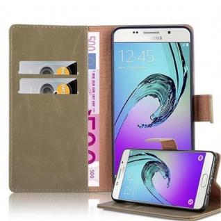 Cadorabo Hülle für Samsung Galaxy A5 2016 in CAPPUCCINO BRAUN ? Handyhülle mit Magnetverschluss, Standfunktion und Kartenfach ? Case Cover Schutzhülle Etui Tasche Book Klapp Style