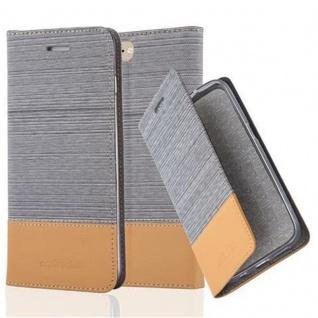 Cadorabo Hülle für Apple iPhone 8 PLUS / 7 PLUS / 7S PLUS in HELL GRAU BRAUN - Handyhülle mit Magnetverschluss, Standfunktion und Kartenfach - Case Cover Schutzhülle Etui Tasche Book Klapp Style