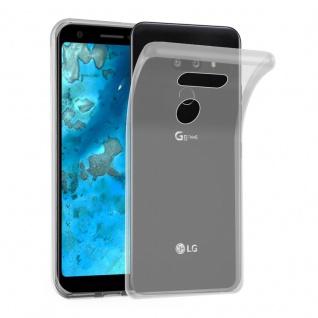 Cadorabo Hülle für LG G8 ThinQ in VOLL TRANSPARENT - Handyhülle aus flexiblem TPU Silikon - Silikonhülle Schutzhülle Ultra Slim Soft Back Cover Case Bumper