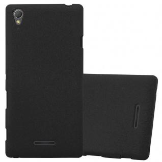 Cadorabo Hülle für Sony Xperia T3 in FROST SCHWARZ - Handyhülle aus flexiblem TPU Silikon - Silikonhülle Schutzhülle Ultra Slim Soft Back Cover Case Bumper