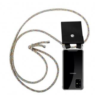 Cadorabo Handy Kette für Samsung Galaxy S20 PLUS in RAINBOW Silikon Necklace Umhänge Hülle mit Silber Ringen, Kordel Band Schnur und abnehmbarem Etui Schutzhülle