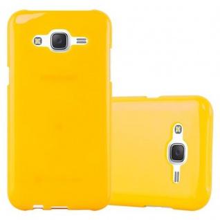Cadorabo Hülle für Samsung Galaxy J5 2015 in JELLY GELB ? Handyhülle aus flexiblem TPU Silikon ? Silikonhülle Schutzhülle Ultra Slim Soft Back Cover Case Bumper