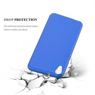Cadorabo Hülle für HTC DESIRE 820 in METALLIC BLAU - Handyhülle aus flexiblem TPU Silikon - Silikonhülle Schutzhülle Ultra Slim Soft Back Cover Case Bumper - Vorschau 3