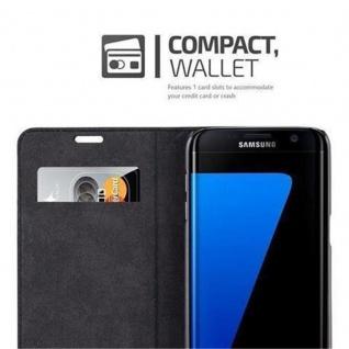 Cadorabo Hülle für Samsung Galaxy S7 EDGE in NACHT SCHWARZ - Handyhülle mit Magnetverschluss, Standfunktion und Kartenfach - Case Cover Schutzhülle Etui Tasche Book Klapp Style - Vorschau 3