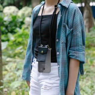 Cadorabo Handy Kette für Samsung Galaxy J5 2015 in SCHWARZ ? Silikon Necklace Umhänge Hülle mit Gold Ringen, Kordel Band Schnur und abnehmbarem Etui ? Schutzhülle - Vorschau 5