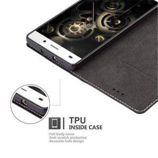 Cadorabo Hülle für Huawei P8 LITE 2015 in SCHWARZ BRAUN - Handyhülle mit Magnetverschluss, Standfunktion und Kartenfach - Case Cover Schutzhülle Etui Tasche Book Klapp Style - Vorschau 4