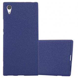 Cadorabo Hülle für Sony Xperia XA1 in FROST DUNKEL BLAU - Handyhülle aus flexiblem TPU Silikon - Silikonhülle Schutzhülle Ultra Slim Soft Back Cover Case Bumper