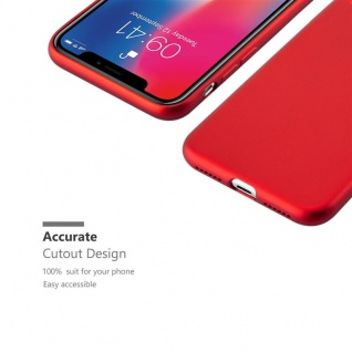 Cadorabo Hülle für Apple iPhone X / XS in METALLIC ROT - Handyhülle aus flexiblem TPU Silikon - Silikonhülle Schutzhülle Ultra Slim Soft Back Cover Case Bumper - Vorschau 4