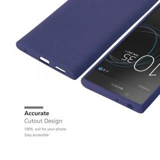 Cadorabo Hülle für Sony Xperia L1 in FROST DUNKEL BLAU - Handyhülle aus flexiblem TPU Silikon - Silikonhülle Schutzhülle Ultra Slim Soft Back Cover Case Bumper - Vorschau 3